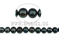 Free shipping!!!Round Cultured Freshwater Pearl Beads,Luxury, natural, black, A Grade, 9-10mm, Hole:Approx 0.8mm