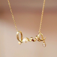 Min order is $10(mix order)W E4234 accessories fashion personality ol elegant all-match short design love letter necklace