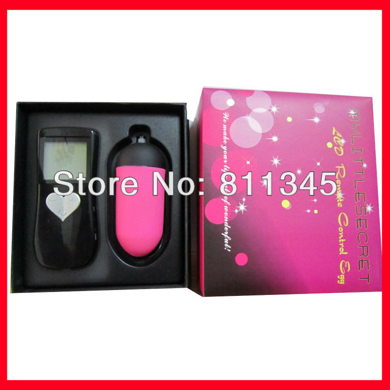LCD Vibrating egg 10-speed remote controlled (Black+black+Red)(China (Mainland))