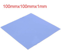 10pcs/lot Blue Thermal Pad GPU CPU Heatsink Cooling Conductive Silicone 100mm*100mm*1mm FREE SHIPPING