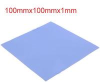 10pcs/lot Blue Thermal Pad GPU CPU Heatsink Cooling Conductive Silicone 100mm*100mm*1mm FREE SHIPPING