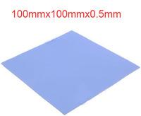 5pcs/lot Blue Thermal Pad GPU CPU Heatsink Cooling Conductive Silicone 100mm*100mm*0.5mm FREE SHIPPING