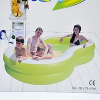 8 inflatable pool plus size family swimming pool