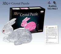 Rabbit puzzle 3d puzzle crystal puzzle three-dimensional puzzle