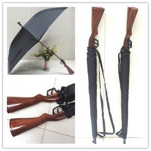 Free shipping coolest Rifle umbrella belt windproof personalized long-handled gun umbrella creative pistol umbrella(China (Mainland))