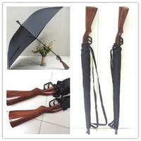 Free shipping coolest Rifle umbrella belt windproof personalized long-handled gun umbrella creative pistol umbrella