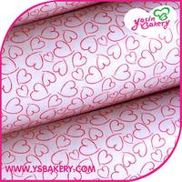 FREE SHIPPING Edible Food Printer  Heart Print Chocolate Transfer Sheets - Small Size 50PCS/Bag