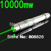New 10000mw Green laser pointer 532nm A lighted matchLight a cigarette Cigarette lighter for fireworks  5000 m