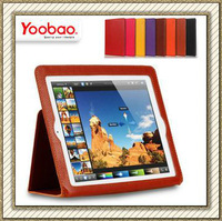 Free Shipping !Original 100% Genuine Leather YOOBAO Ultrathin Business Case for New iPad 3,With Smart Cover Stand Feature