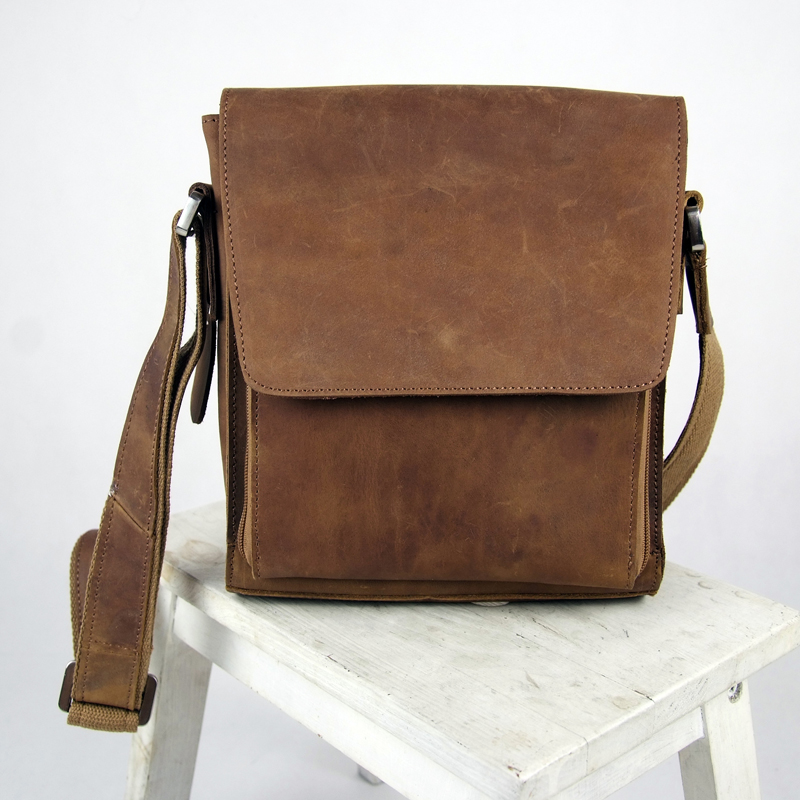 free-shipping-Genuine-leather-vintage-casual-messenger-bag