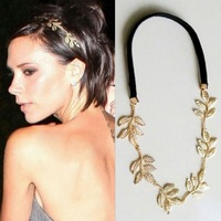 F039 fashion british style romantic olive branch leaves decoration ribbon hair accessory
