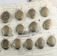 16*20*6mm mix styles free shipping wholesale 10pcs/lot vintage bronze photo locket
