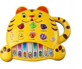 Best sale BeiLeKang Children educational toys tiger electronic organ toys enlightenment music lights animal puzzle