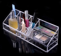 {free shipping}clear crystal makeup organizer display