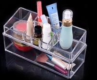 {free shipping}clear acrylic cosmetic organizer display stand