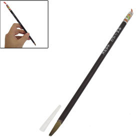 5 Pcs Calligrapher 6mm Chocolate Color Shaft Chinese Calligraphy Writing Brush Pen Free shipping(China (Mainland))