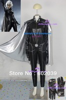 X-men Storm cosplay costume halloween include cape and gloves GOOD quality faux leather made