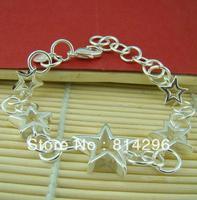Free  shipping    Female bracelet jewelry 925 silver ornament