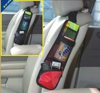 Free shipping Car multi Pocket Storage  new high quality Organizer Arrangement Bag of car side seat of chair side black