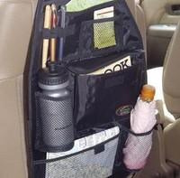 Free shipping new high quality Car multi Pocket Storage Organizer Arrangement Bag of Back seat of chair black