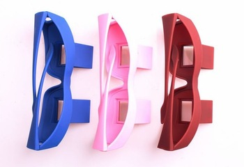 Latest Creative High Definition Horizontal colorful(Red, Pink, Blue, Black) Glasses Lazy Glasses, Novelty Bed Lie Down