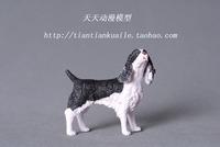 Chap mei pet dog model of world dog - black-and-white flower cocker spaniel dog