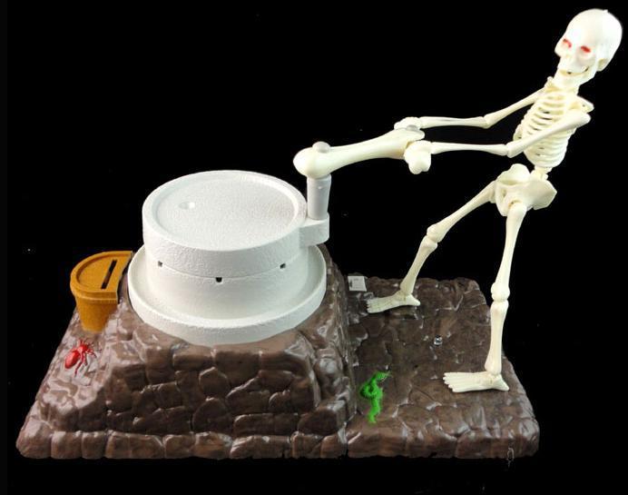 Free Shipping Novelty Funny Vintage Punk Plastic Monster Home Decor Skeleton Piggy Bank Skull Saving Money Box For Kid Adult