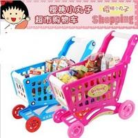 Toy cart supermarket shopping cart girl wheelbarrow small cart  toy