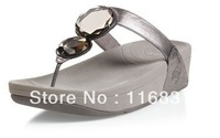 Hot sale100%Genuine Leather woman shoes(FF ELECTRA) sandals summer cool sandals,Lose weight shoes