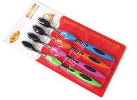 Free shipping 4pcs sets Korea Bamboo charcoal toothbrush #H0093