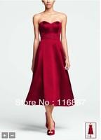 Custom made 2013  NEW! Strapless Sweetheart Tea Length Dress with Beading Style F15413 Bridesmaid Dresses