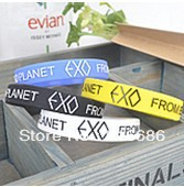 (free shipping CPAM) New 190mm embossed bracelet circumference produced EXO k m missions of all characters birthday bracelet