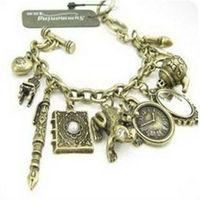 S0240037  promotion bracelets jewelry vintage charms mirror clock bracelet  12pcs/lot free shipping