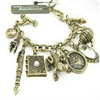 S0240037  promotion bracelets jewelry vintage charms mirror clock bracelet  12pcs/lot free shipping