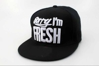 Fashion Street Headwear Sorry I'm Fresh  and you are not Snapback hats  black white without Min order  freeshipping !