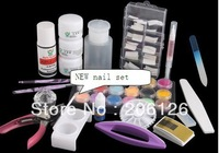 Wholesale - Full Acrylic Nail Build Nail Art Tip Kit Set Acrylic set nail set