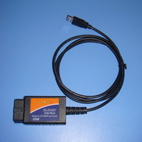 Free shipping OBD/OBDII scanner ELM 327 car diagnostic interface scan tool ELM327 USB
