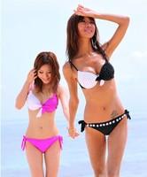 Женское бикини Sexy Leopard Printed Bikini 2 Pieces Set One Shoulder Swimwear for Women
