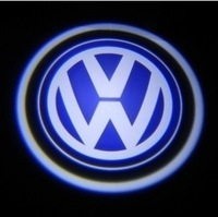 NEW Hot sale 2pcs Car Projection Laser Ghost LED Auto Door Shadow Light Welcome Light for VW  free shipping