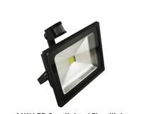 Free Shipping 20W PIR Motion detective Sensor LED Flood light Outdoor Black Floodlight Warm White 85V-265V