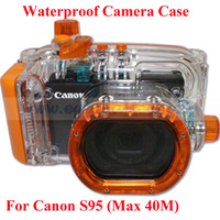 Waterproof Bag for Digital Canon S95 Camera, ABC glass Waterproof Camera Case Max 40M(130ft) Underswater, 1M Shockproof Hosing