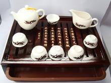 Chameleon chameleon set porcelain ceramic Chinese kung fu tea set, tea tray,congou chaju  Gift Free Shipping  01360