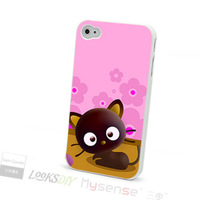 Good quality lovely cartoon chococat pc cell phone case for iphone 4 4s