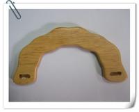 """FREE SHIPPING 6.9""""*3.6""""  natural color  half shaped solid wood handbag handles"""