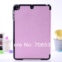 Sweet Color With Wake Up and Sleep Function Stand Leather Case for iPad Mini