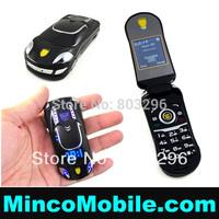 Unlocked LED Lights Quad Band Dual SIM Card Car Phone Q8+ Flip Luxury Mobile Phone