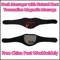 Neck Massager Natural Thermal Therapy with Tourmaline Self-heating and Magnetic Heated Neck Pad 2PCS A Lot Free Air Shipping