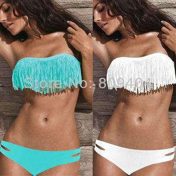 2015 Sexy New Ladies' Beautiful Fringed Fashion Bikini Set,Women's Bathing Suit Biquinis Moda Praia Feminina Maillot De Bain