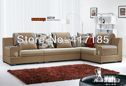 home furniture, living room corner sofa sets, chinese style fabric sectional sofa EX WORKS PRICE(China (Mainland))