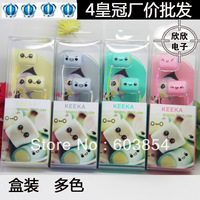 retail & wholesale hot sell free shipping fashion 4 pily cady sugar small steamed bun earphones for mp3 y991